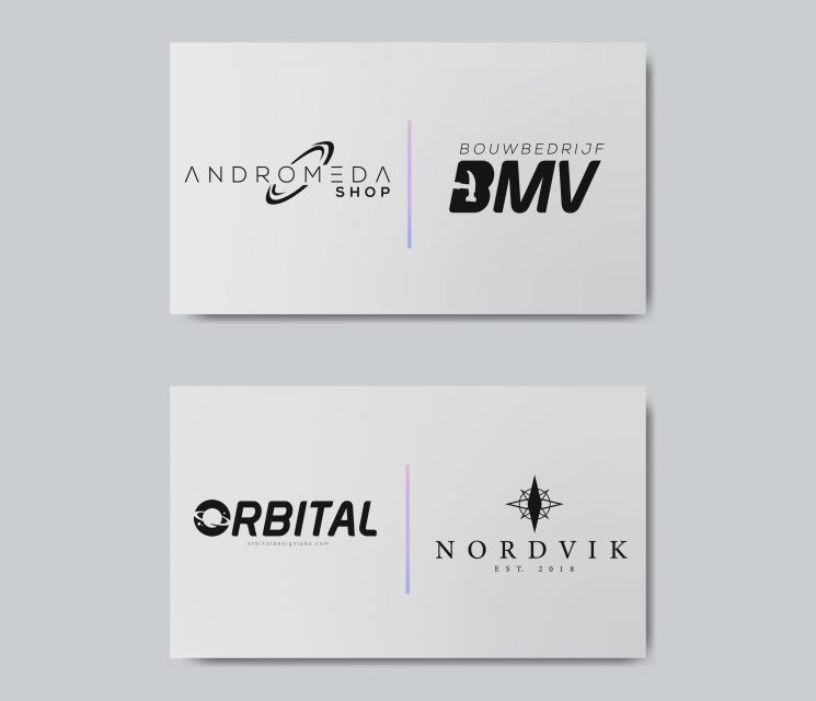 Blank business card design mockup vector